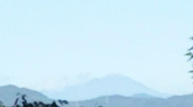 仙元山 台風一過浅間山が見えた