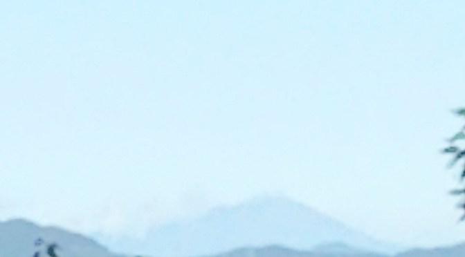 仙元山 今日も浅間山が見えました。