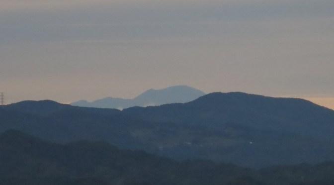 仙元山 雲があるものの浅間山が見えました