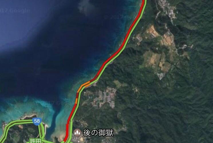 <沖縄GW交通速報>5月3日の名護市の混み具合