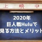 【2020年】巨人戦をHuluで見る方法とメリット【無料あり】