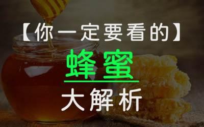 蜂蜜大解析!珍貴的酵素來自蜜蜂口水?