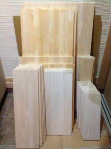 WOODONE風家具の材料