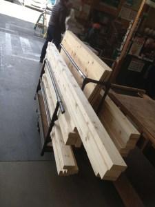購入した木材