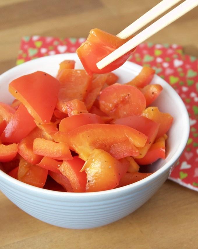 Warm paprika salad
