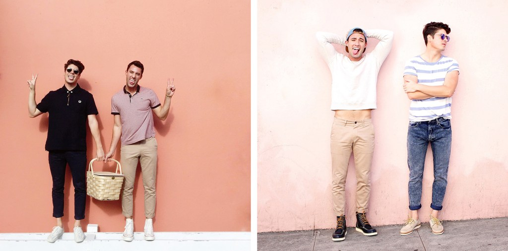Chris and Brock, of Yummertime, Instagram men's style for fall