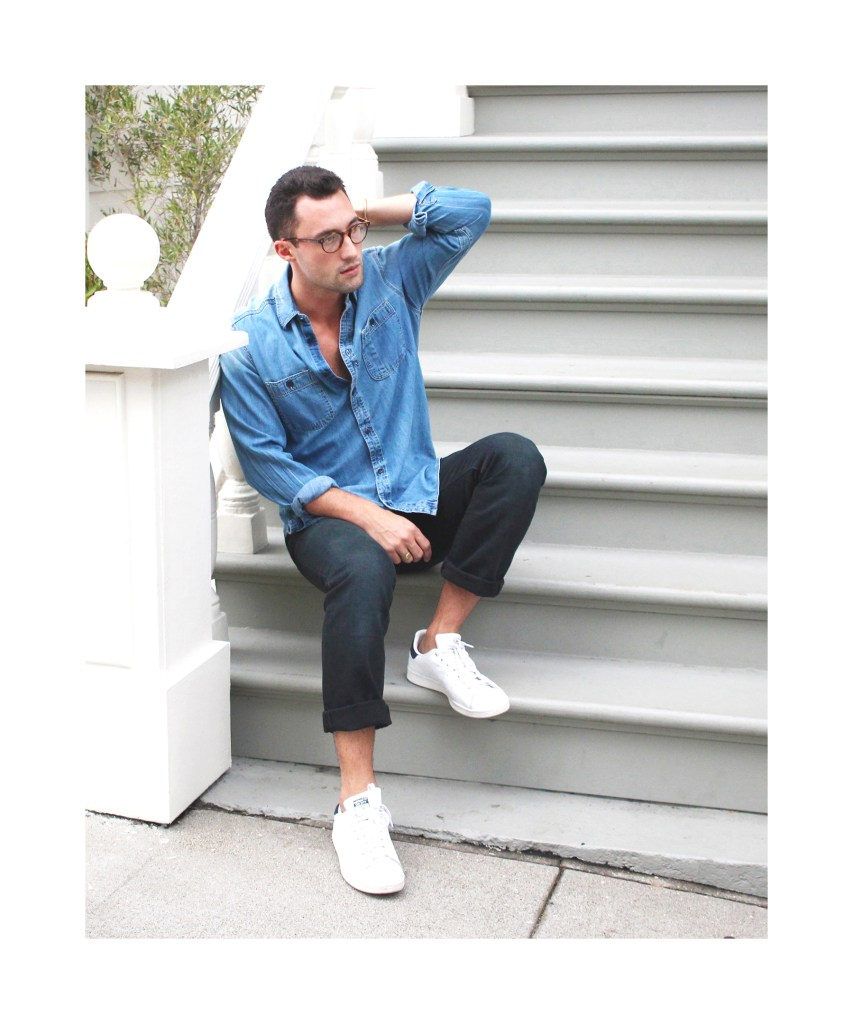 Chris, of Yummertime, in Gap men's denim