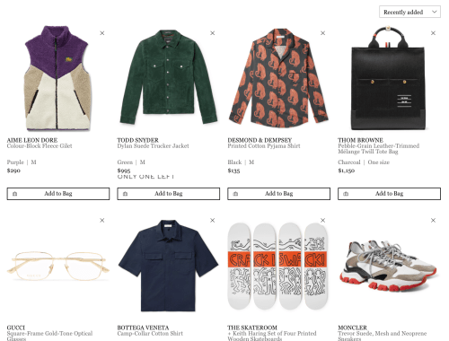 everything on MR PORTER to buy if we had the money