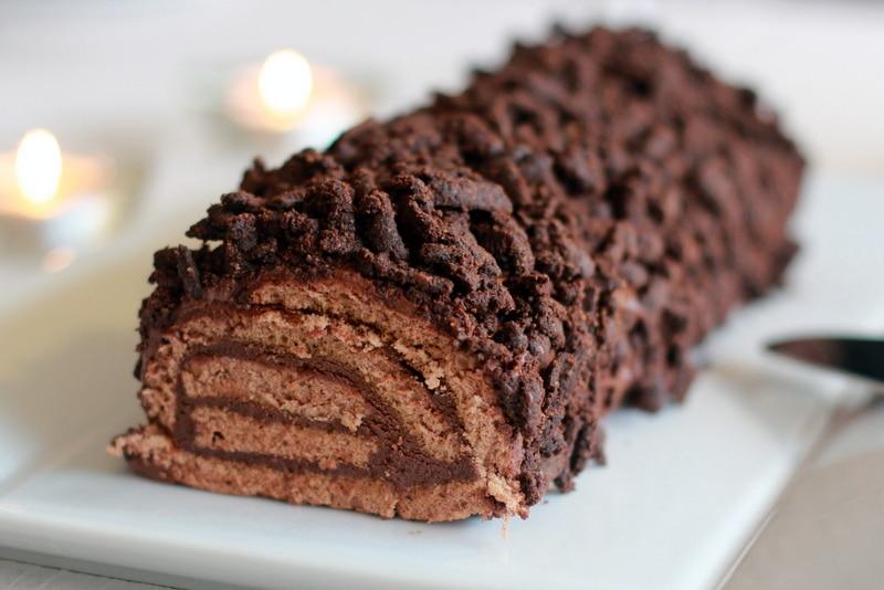 buche de noel au chocolat thermomix