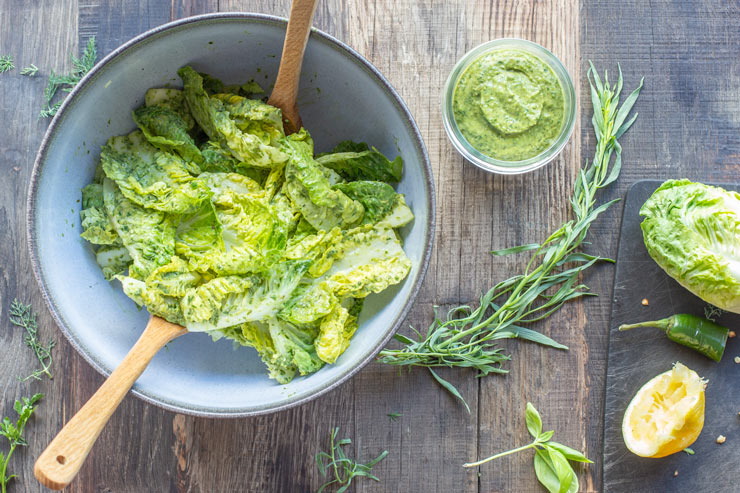 sauce verte pour salades