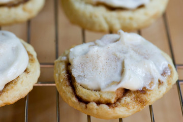 Easy and Delicious Cinnamon Roll Sugar Cookies Recipe by Makeeze Recipes