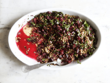 Easy and Delicious Cook the Book: Lentils with Roasted Beets Recipe by Makeeze Recipes