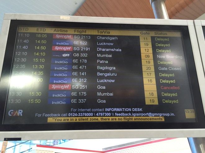 all flights delayed, all trains delayed - what a day to travel to eat!!!!