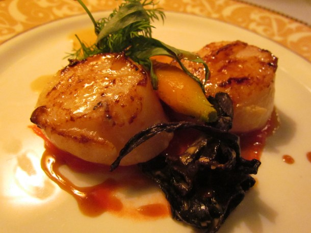 Scallops & Black Trumpet mushrooms