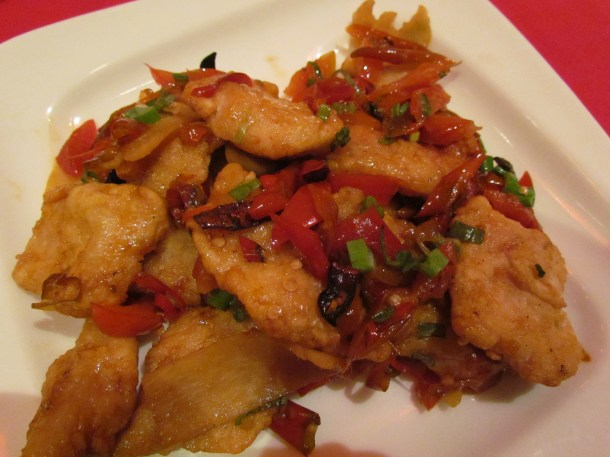 Fish in ginger & preserved chilli sauce