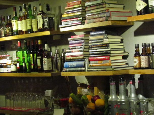 Books in the bar area