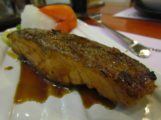 Salmon in teriyaki sauce