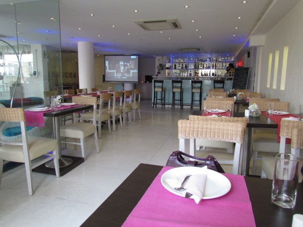 inside the cafe