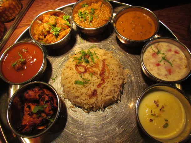 Dhaba nonveg unlimited thali.