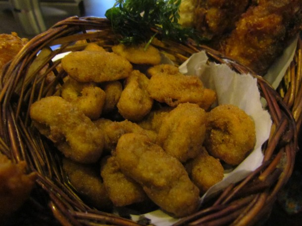 Calamari batter fried
