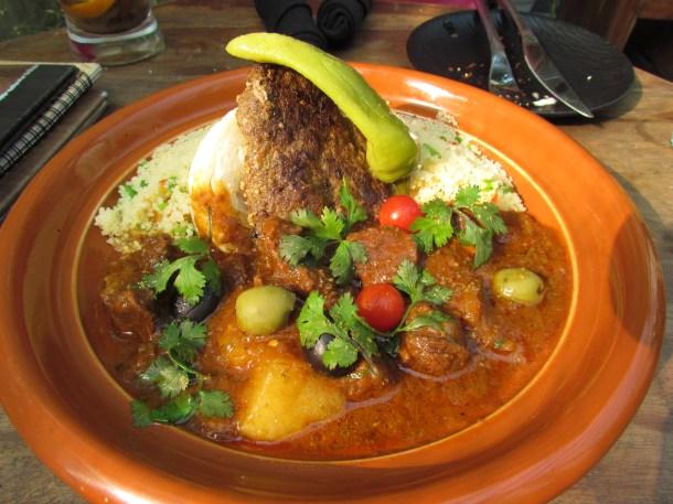 Couscous with Lamb cutlet, Harissa & fennel tagine