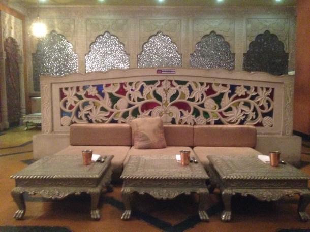 Seating inside the restaurant