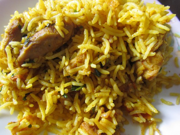 chicken  biryani that we got in the name of Chemeen biryani