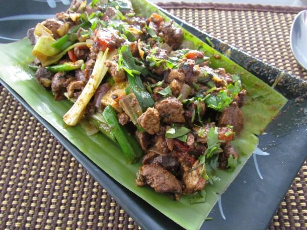 Fried Chicken Liver Arunachal style