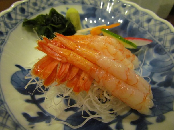 Ama ebi sashimi