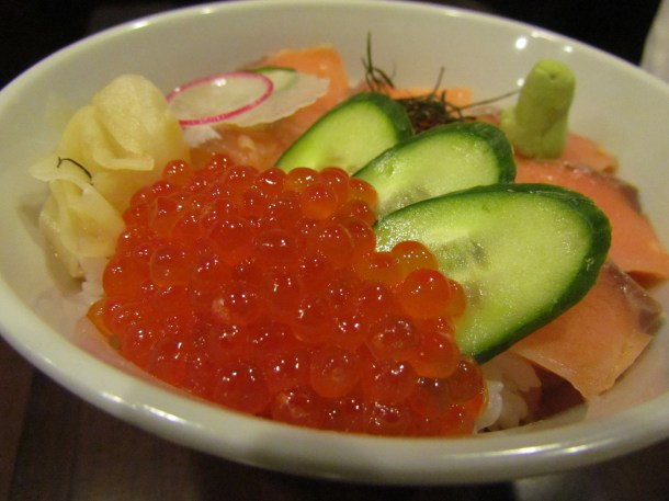 Shake Ekura Don - close up of salmon roe
