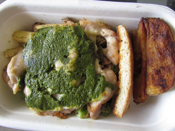 Grilled Chicken Pesto inside the box