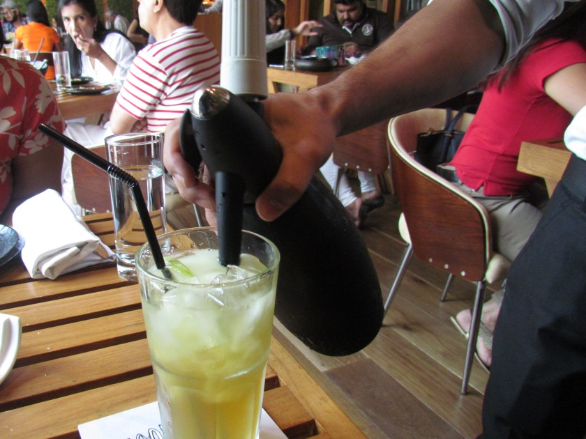 Apple Jack - soda being poured on the table