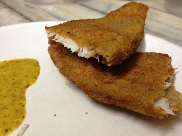 inside Fish diamond fry