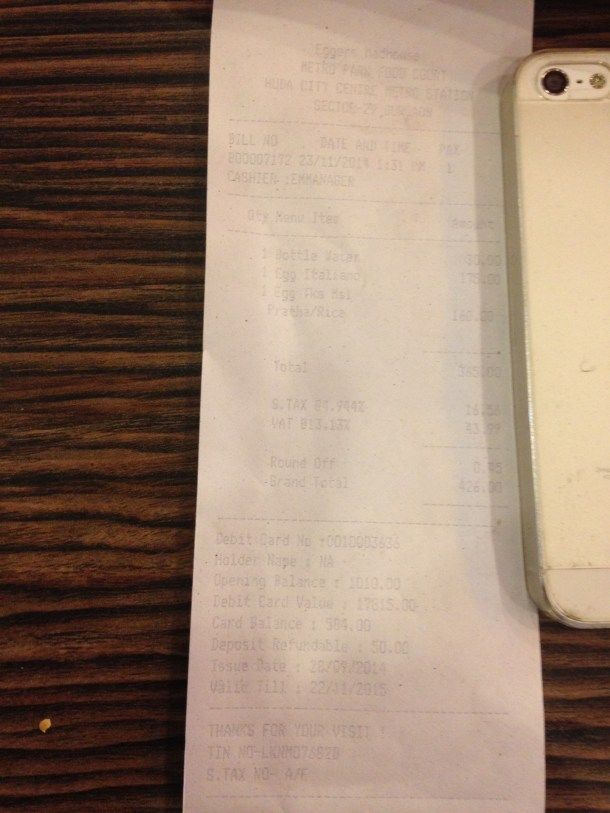 receipt 3- proof of payment