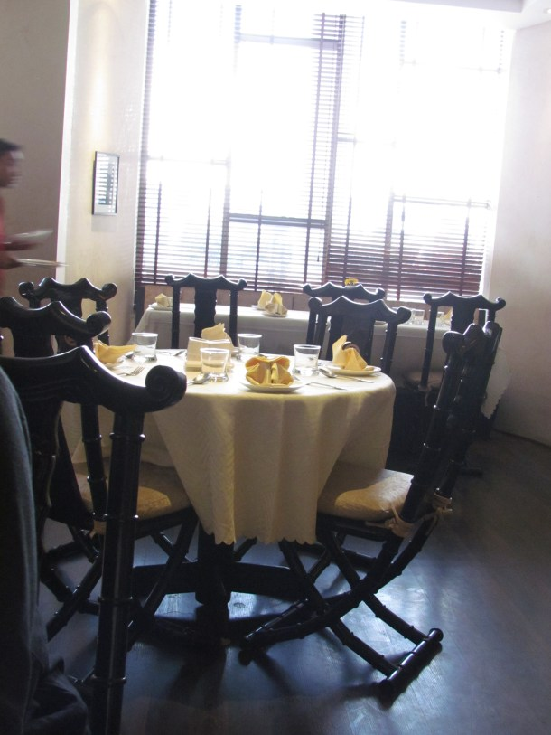 A section of the restaurant
