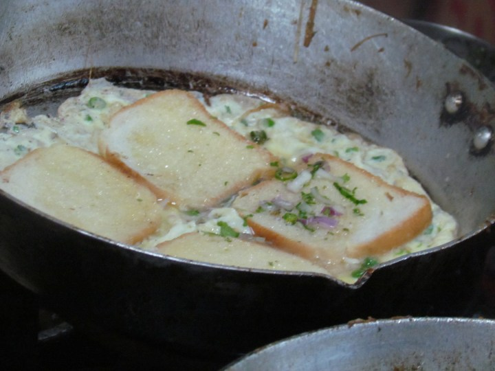 special french omelet in the making............