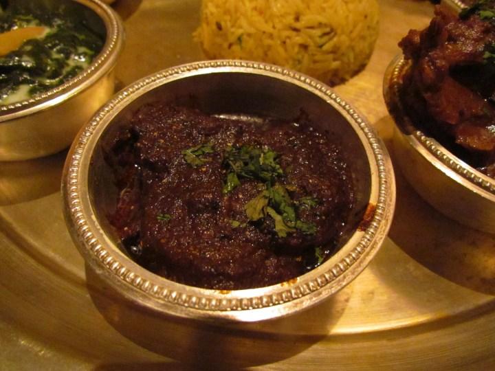 black masala mutton
