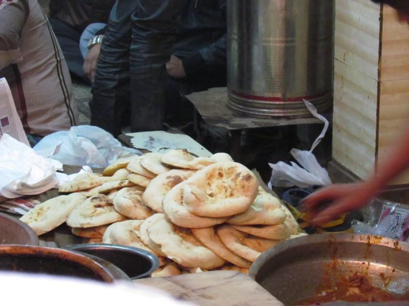 rotis being made