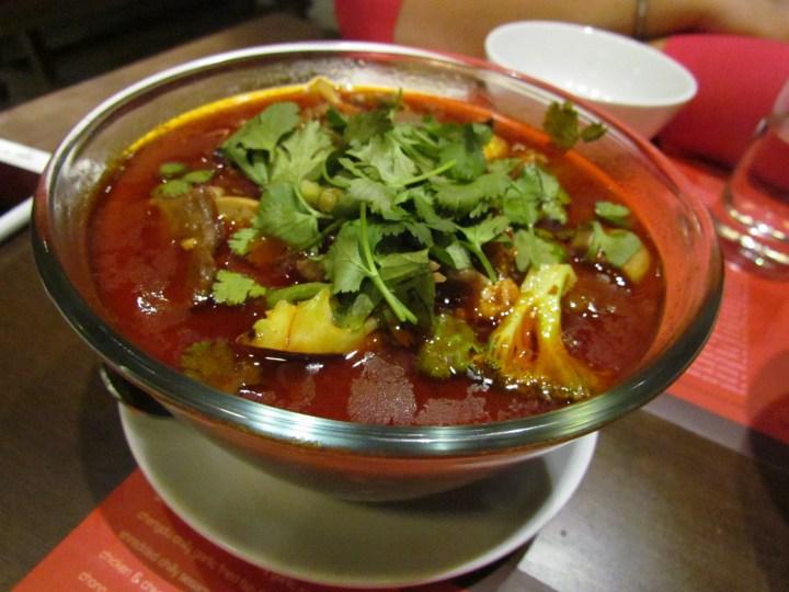 Tenderloin Hot pot - the way it was served