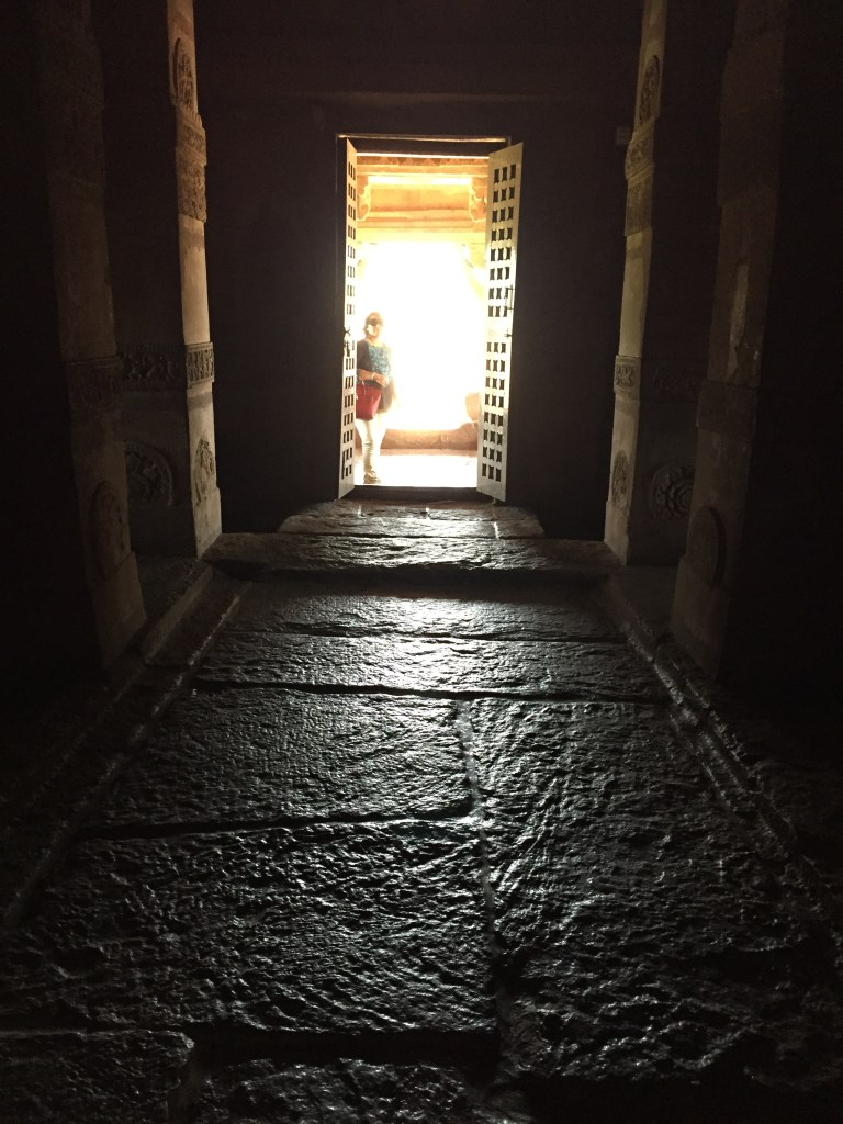 A view from inside the temple