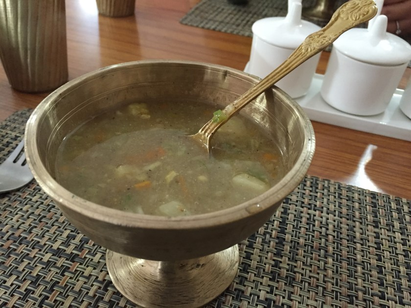 Pork soup with bamboo shoot