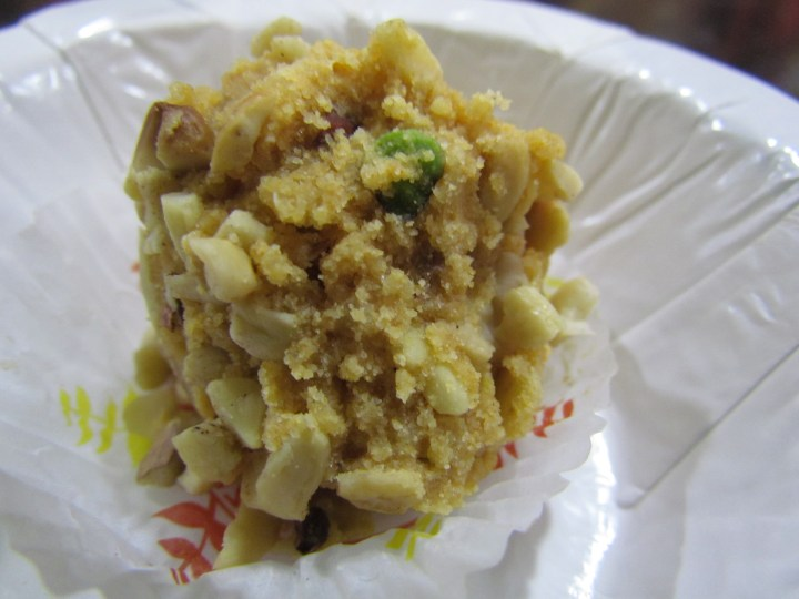 cross section of Daal & dry fruits laddoo