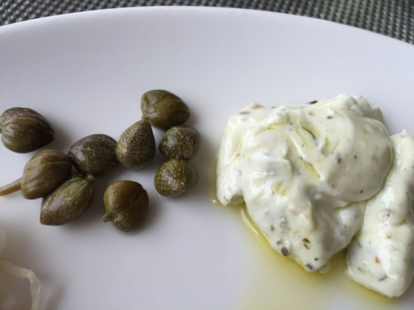 capers & mayo - to go with sausages