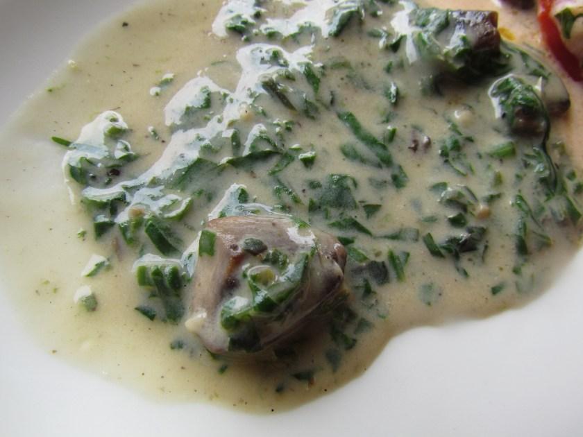 mushroom & spinach