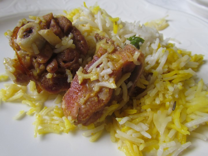 dum cooked mutton biryani