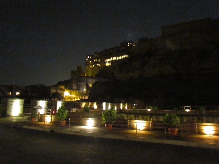 The restaurant terrace