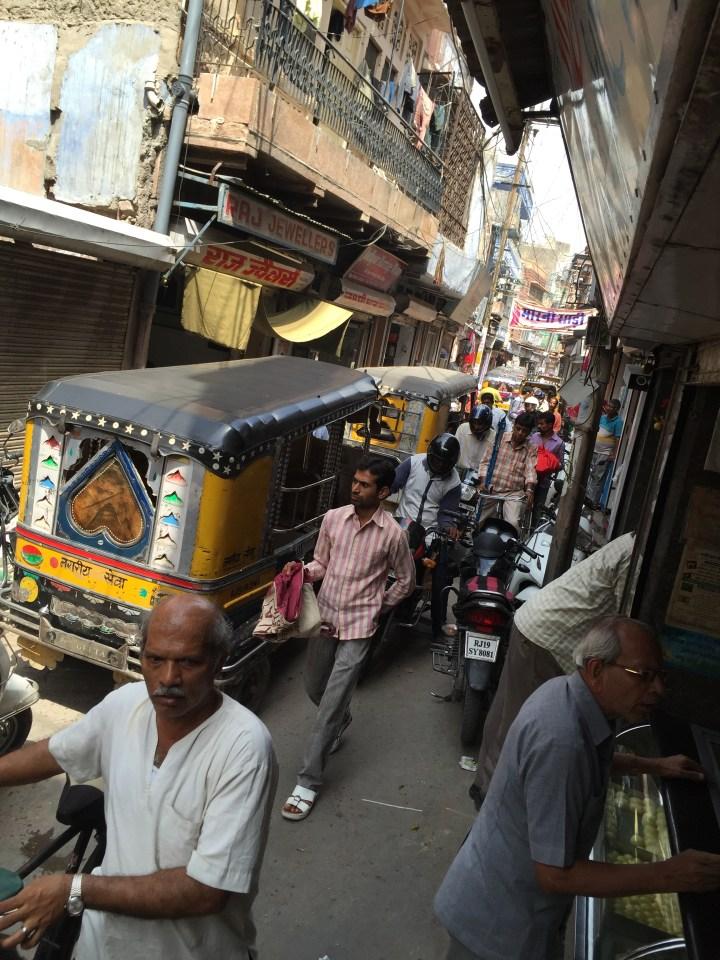 Congestion outside the shop
