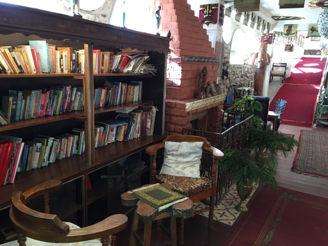 reading area near the entrance