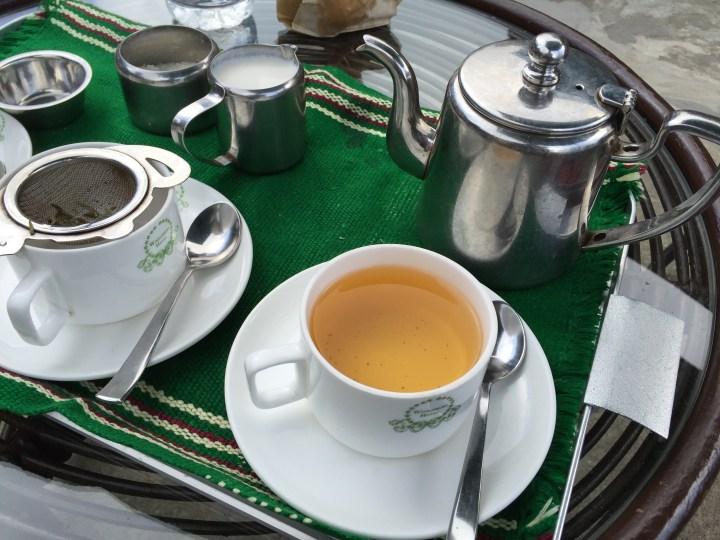 Tea served to us