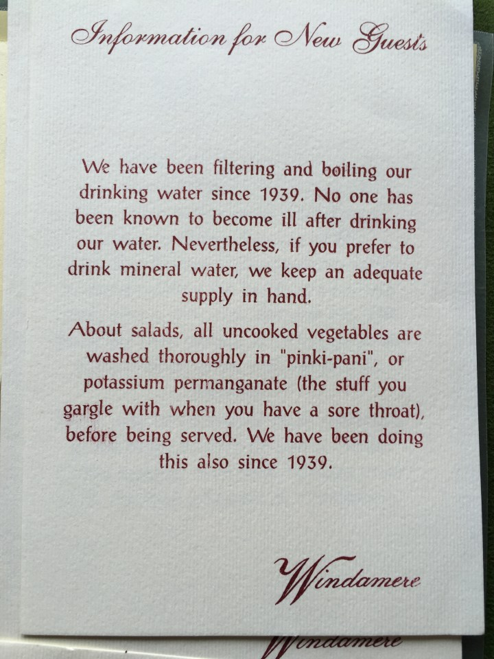 Interesting tit bit about the hotel